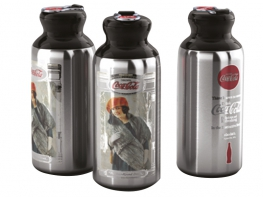 BORRACCIA STORICA COCA COLA SILVER ALU 500ML